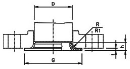 butt weld pipe collar dimensions