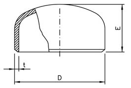 fitting pipe cap dimensions