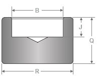 forged Socket Weld pipe cap dimensions