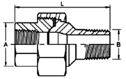 forged threaded union dimensions